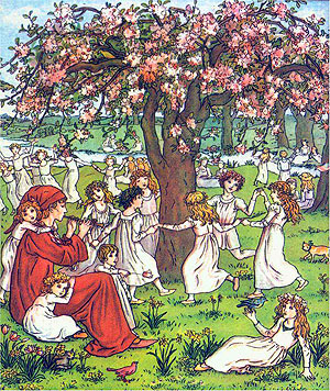 Illustration by Kate Greenaway - 1888.
