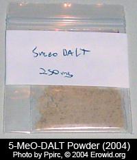 Eine 5-Meo-DALT Tüte