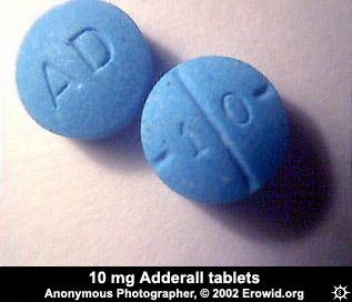 adderall and valium erowid