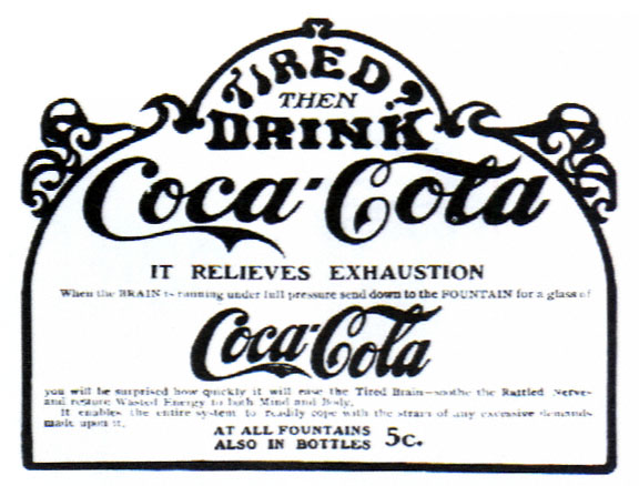 historical advert for cocain