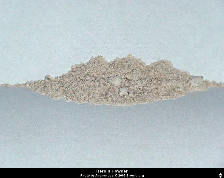 Heroin powder colors