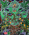 psychedelic green man