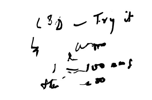 Huxley's note asking for intramuscular LSD